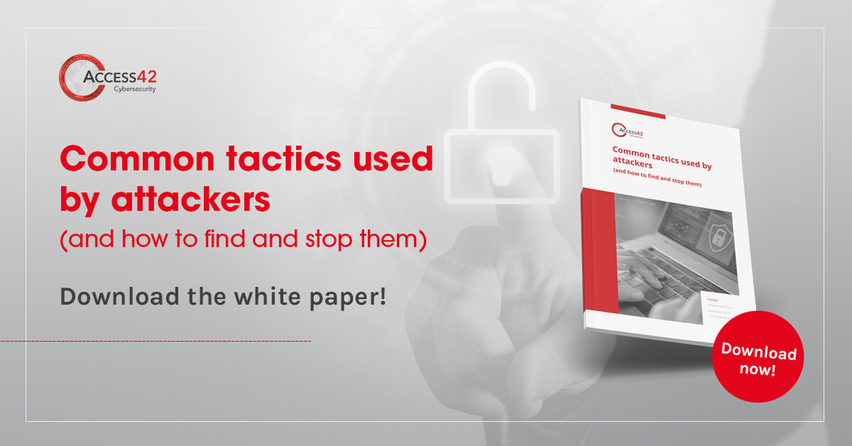 Which tactics are used in an attack on a company network
